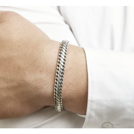 Massiv Silber Herrenarmband