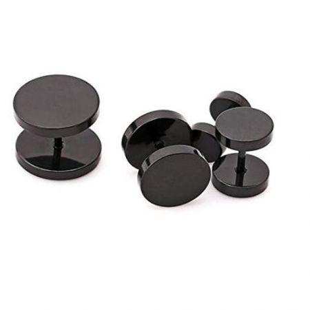 Schwarz Magnet ohrring