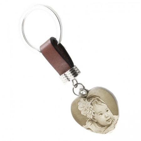 Schlüsselanhänger mit Foto Gravur