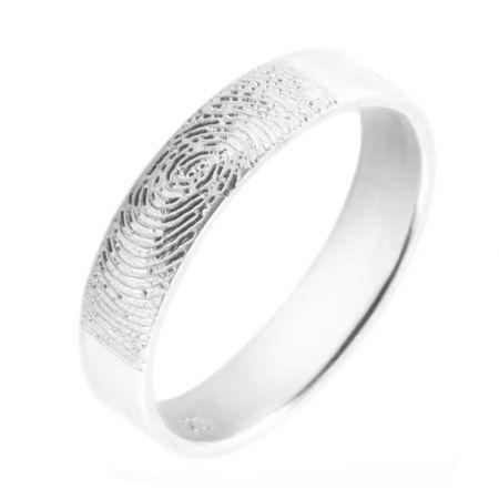 Silberring mit gravur - 5mm