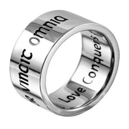 Silber Ringe mit Namen oder einem Text - 9,5 mm